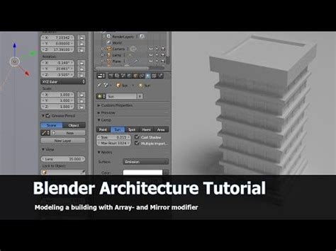 blender tutorial youtube com blender architecture tutorial high building youtube