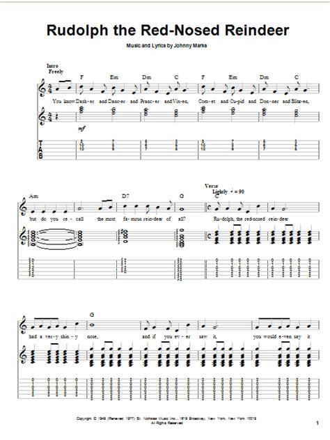Rudolph Guitar Chords