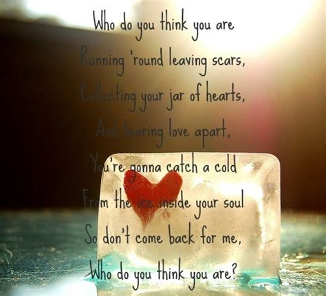 tink background lyrics jar of hearts images who do you think you are