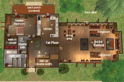 Single Story Farmhouse Plans mod the sims quot two story sleep wing quot leisure home 3