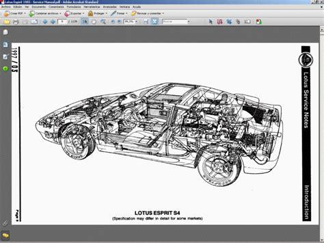 motor repair manual 1996 lotus esprit spare parts catalogs lotus esprit 1993 service manual