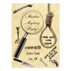 murder mystery invitations announcements zazzle