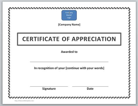 certificate for appreciation template 13 free certificate templates for word microsoft and