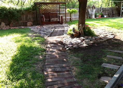 backyard walkway this is my wooden walkway in my backyard my yard