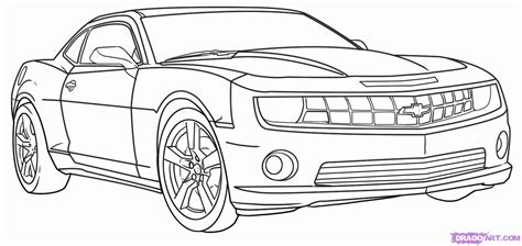 How To Draw Car How To Draw A Race Car How To Draw A Camaro Step By