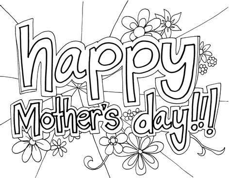 Mothers Day Coloring Pages | free printable mothers day coloring pages for kids