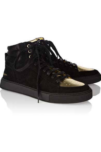 ysl malibu yves laurent malibu suede and metallic leather