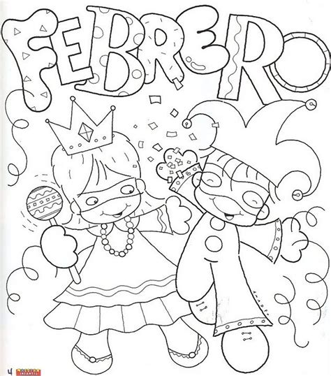 dibujos para colorear del mes de febrero imagui dibujos divertidos del mes de febrero para colorear