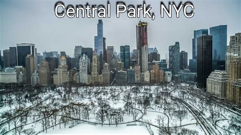 new york city 2017 snow storm 2017 in central park new york city 2k drone youtube