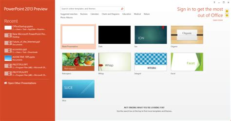 themes powerpoint office 2013 what s new in microsoft powerpoint 2013 review