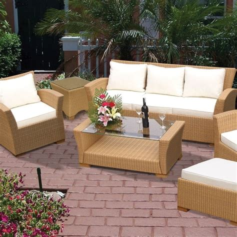 patio furniture charleston sc charleston wicker honey