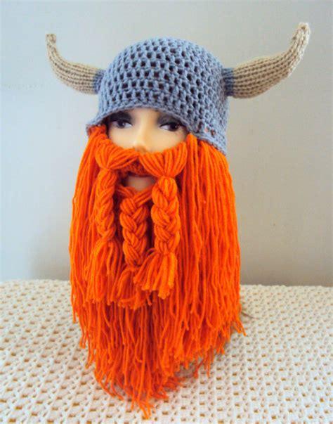 knit viking hat viking hat beard hat beard beanie knit by grahamsbazaar