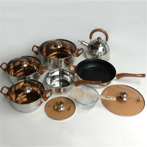 Panci Oxone Eco Cookware oxone panci set 12 2 pc eco cookware set ox 933 wokpan
