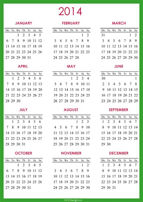 printable calendar quarterly 2014 6 best images of 2014 calendar printable full page 2014