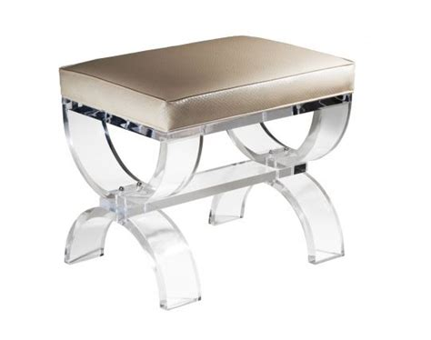 acrylic vanity bench umbria bench our acrylic seating pinterest home acrylics and leather