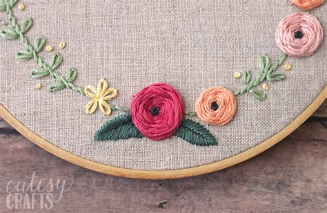 embroidery design youtube bloom hand embroidery pattern cutesy crafts