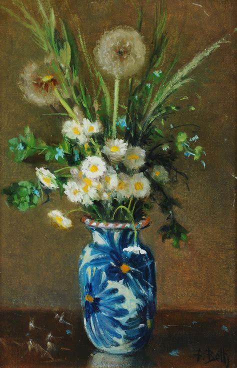 vasi di fiori dipinti franco betti 1925 natura morta con vaso di fiori