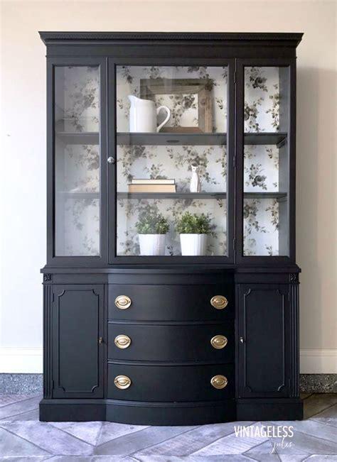 vintage black china cabinet l black china cabinet general finishes design center
