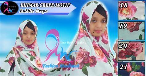 Khimar Crepe Motif jual jilbab segi empat 2 warna nemo
