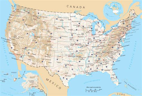 road map of the usa usa general reference map mapsof net