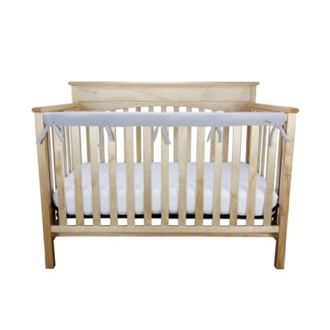 Crib Mattress Wrapping New Crib Wrap Fleece Rail Cover For Rail Soft Protect Baby Child Kid Gray Ebay