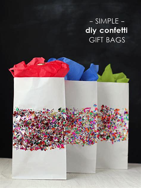 gift bag ideas colorful confetti diy gift bags mod podge rocks