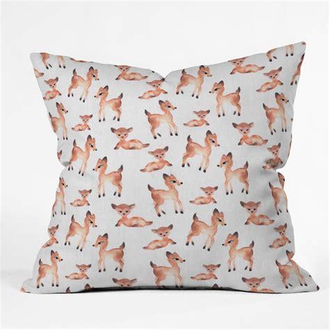 Deer Pillow by Deer Throw Pillow Forest