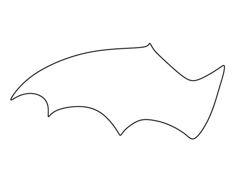 bat wing template bat wing pattern use the printable outline for crafts
