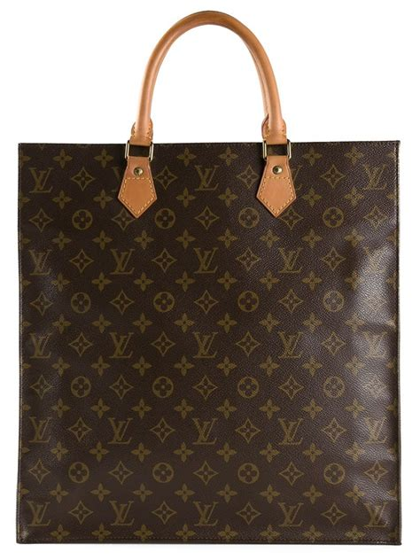 louis vuitton monogram flat sac bag  brown lyst