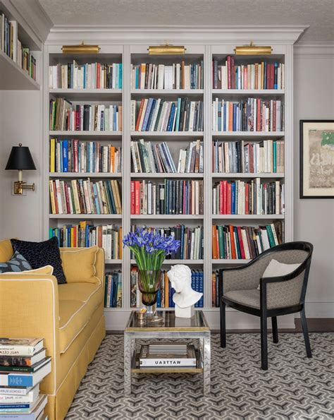 traditional bookshelves bookshelves with lighting family room traditional with