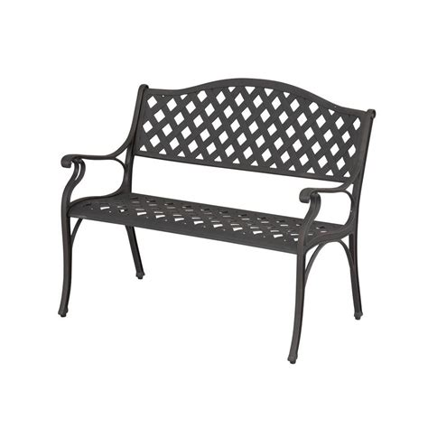 bench the bay hton bay legacy aluminum patio bench c526 62 the home