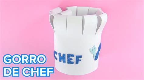 como hacer un librito de goma eva youtube c 243 mo hacer un gorro de cocinero con goma eva