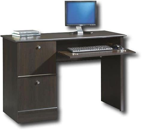 sauder computer desk cinnamon cherry sauder computer desk with slide out keyboard shelf 408995