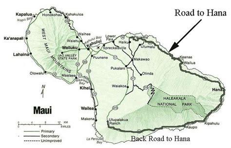 printable road to hana map back road to hana open