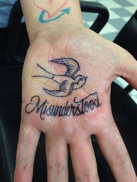 misunderstood tattoo designs my palm misunderstood inked palm