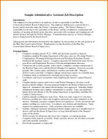 Cover Letter Resume Description 6 Office Assistant Description Resume Assistant
