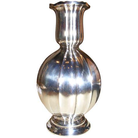 silver vase vintage german 800 silver vase art deco design by