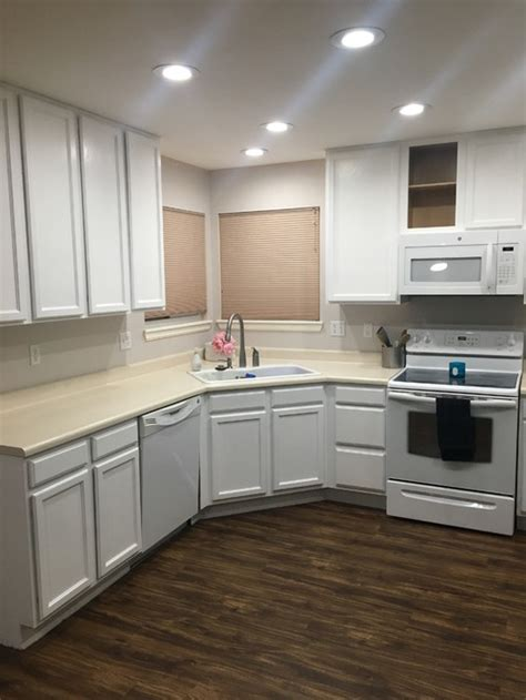black stainless steel appliances need countertop ideas
