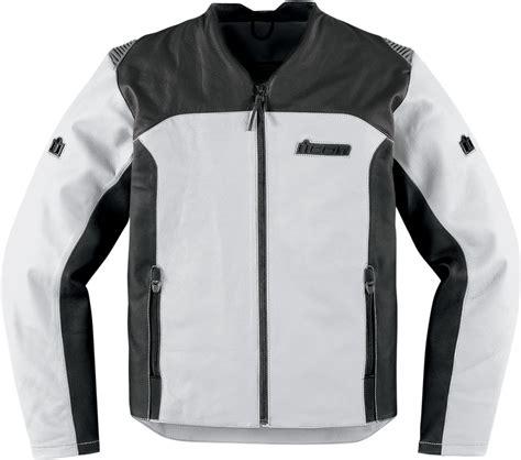 white motorbike jacket icon device leather jacket white