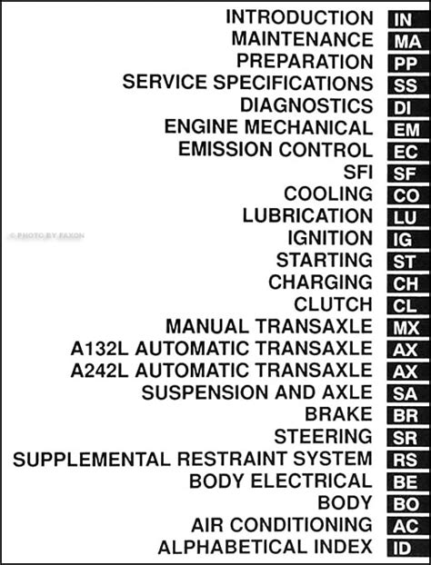 car repair manuals online free 1998 toyota tercel instrument cluster 1998 toyota tercel repair shop manual original