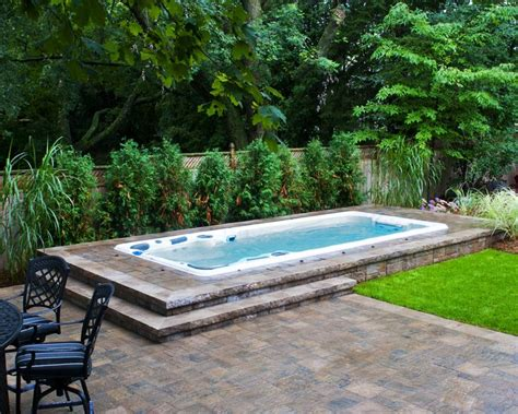 swim spa backyard designs 17 best images about swim spa install ideas on pinterest