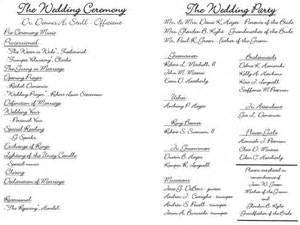 sle wedding programs outline the world s catalog of ideas