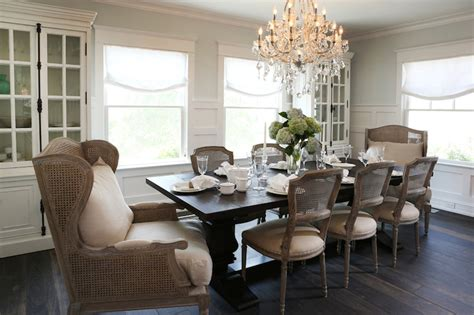 natural wood dining room sets natural wood table linen slipcovered chairs dining room
