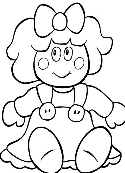 Doll Coloring Pages To Download And Print For Free Coloring Page Of A