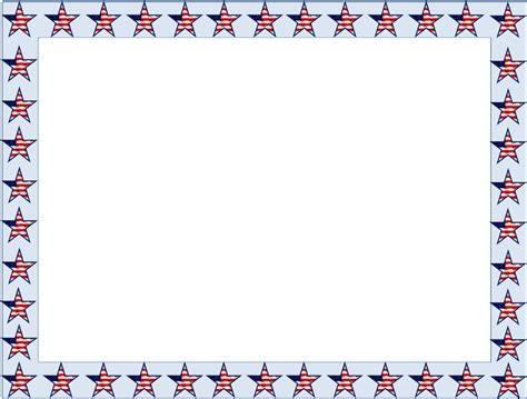 cornici colorate da stare american flag borders and frames clipart