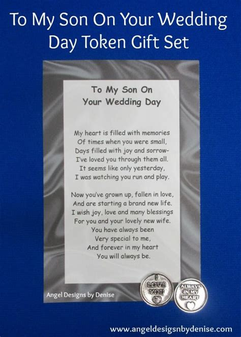 7 Ways To On Your Wedding Day by To My Our On Your Wedding Day Token Set This Poem With