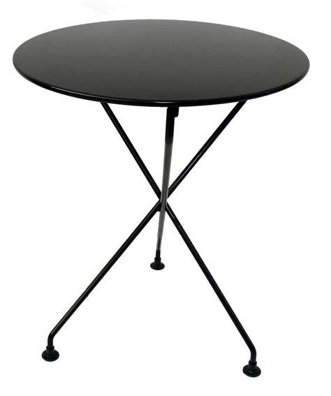Folding Bistro Table Mobel Designhaus Caf 233 Bistro 3 Leg Folding Bistro Table Jet Black Frame 24