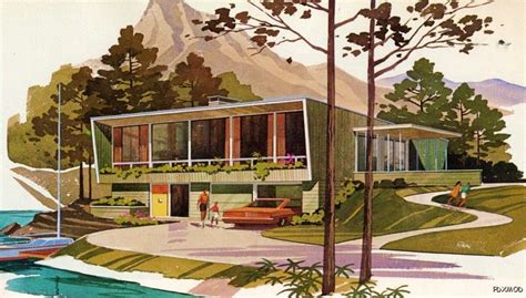 home planners inc house plans modern vacation homes floor plans a frames chalets lofts decks mid century mod ebay