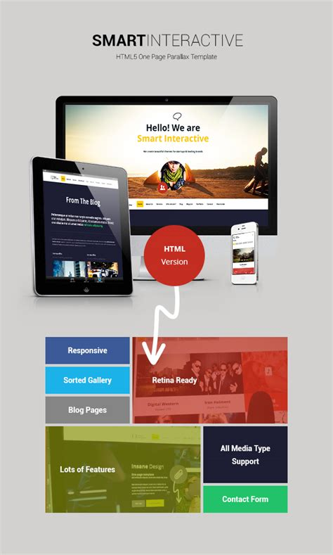 Download Smart Interactive Html5 One Page Creative Parallax Needmytheme Com Interactive Html5 Website Templates