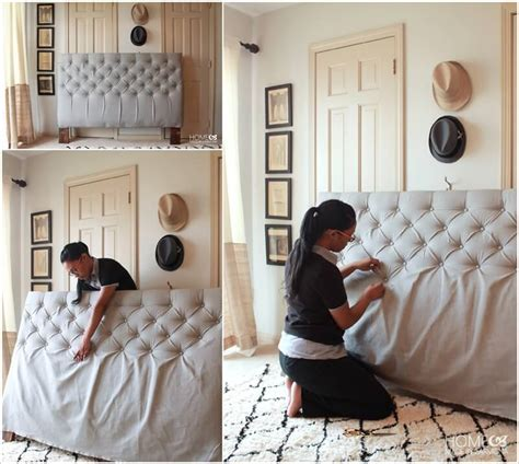 how to make a headboard out of an old door make a diamond tufted headboard for your bed